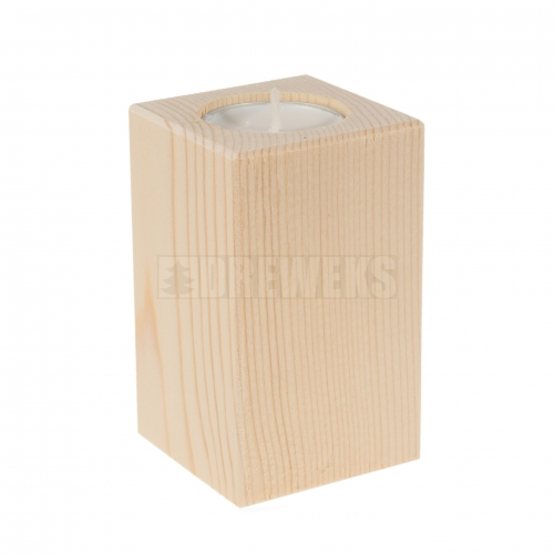 Candlestick vertical 130mm - pine