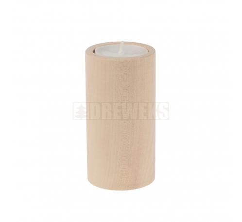 Candlestick circle 100mm - beech
