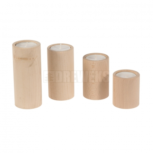 Candlestick circle - beech/ set of 4 pcs