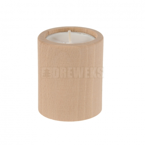 Candlestick circle 80mm - beech