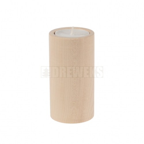 Candlestick circle 100mm - beech