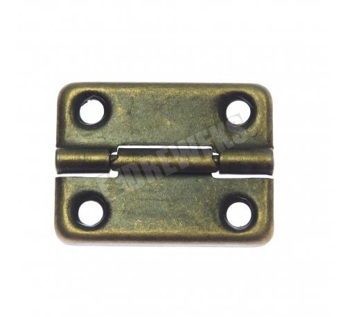 Decorative hinge 32x24mm - dark brass