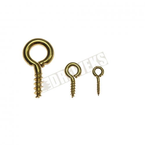 Screw hook - big/ brass