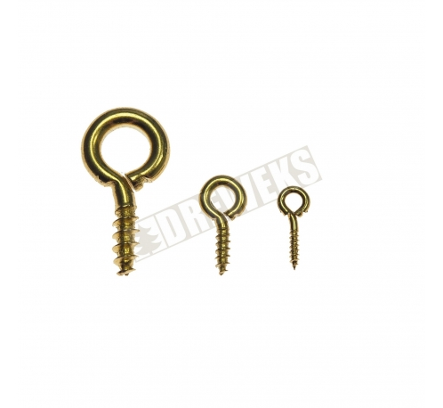 Screw hook - medium/ brass