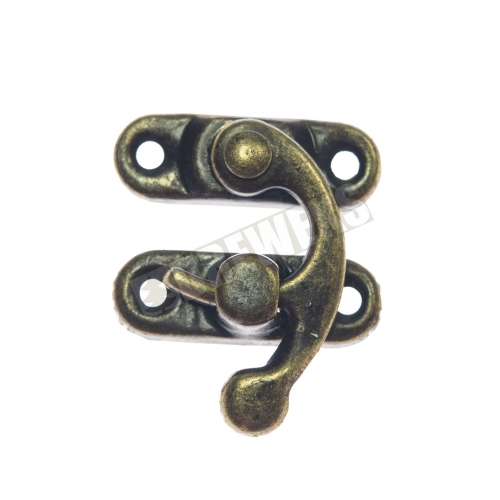 Lock with hook - dark golden - 500 pieces