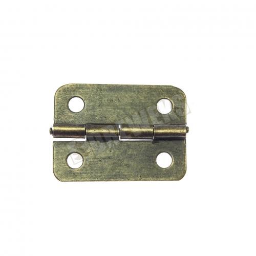 Hinge 24x19mm - dark brass