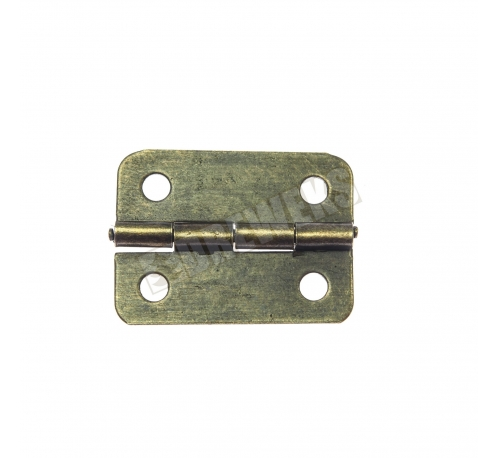 Hinge 24x19mm - dark brass