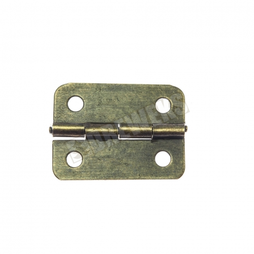 Hinge 24x19mm - dark brass - 500 pieces