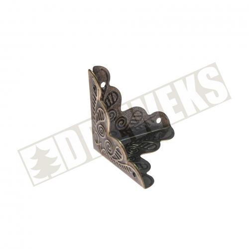 Corner - 2/5cm dark brass